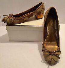 Coach C Signature Odella Khaki Shoes Size 7.5