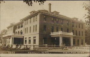 Image Is Loading Hamilton Mt Ravalli Hotel C1910 Real Photo Postcard