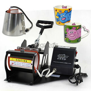 2in1 Heat Press Transfer Sublimation Machine Auto Digital Display Coffee Cup Mug
