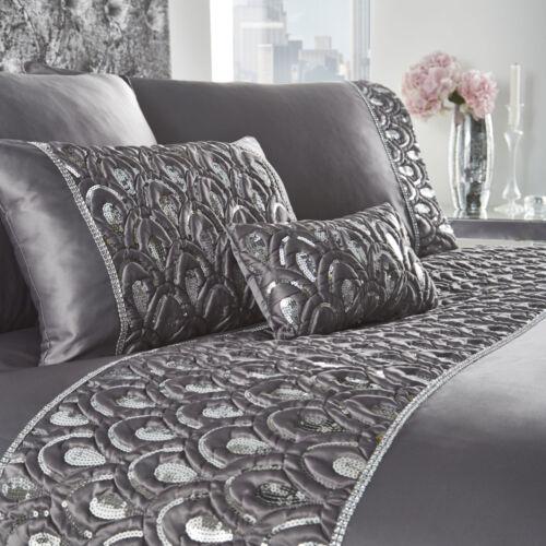 Crystal Charcoal Sequin Duvet Set Bedding Range