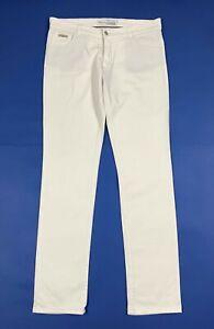 Paolo-pecora-jeans-uomo-usato-slim-stretch-W36-tg-50-white-denim-boyfriend-T6260