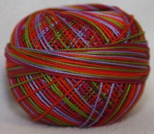 Lizbeth Egyptian Cotton Crochet Thread Size 10 Color 176 Pink Blossoms