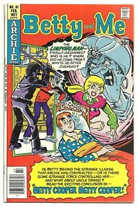 Betty And Me Comic Book Archie Series No 81 February 1977 Betty