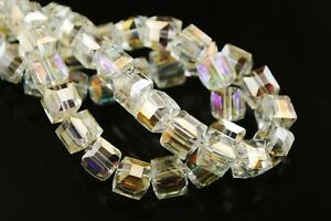 30pcs-6mm-Cube-Square-Faceted-Crystal-Glass-Charms-Loose-Spacer-Beads-Citrine