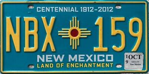 New-Mexico-Centennial-American-Licence-License-USA-Number-Plate-Tag-NBX-159