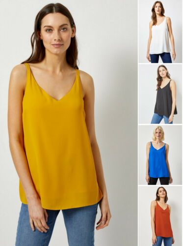 Blue White Dorothy Perkins DP NEW Yellow Rust Cami Top Size 6-22 Black