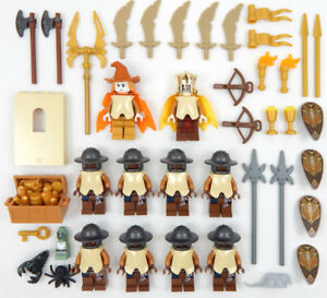 10-NEW-LEGO-CASTLE-KNIGHT-MINIFIG-LOT-Kingdoms-figures-minifigures-people-orc
