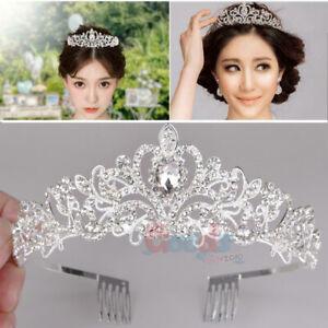 Vintage-Wedding-Bridal-Crystal-Diamo-Headband-Queen-Crown-Tiara-Hair-Accessories