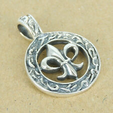 Sterling Silver Pendant 925 Stamp Fleur de Lis Vintage Celtic SP039