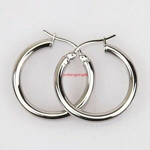 Image Is Loading Polished Stainless Steel Round Circle Large Hoop Loops