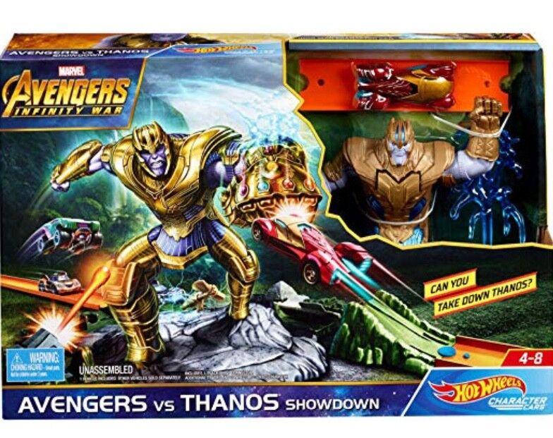 Nuevo Hot Wheels Avengers Infinity Guerra vs Thanos Thanos Thanos Showdown Parque Infantil f46801