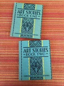 Art-Stories-Book-One-amp-Book-Two-EXCELLENT-condition-children-039-s-illustrated