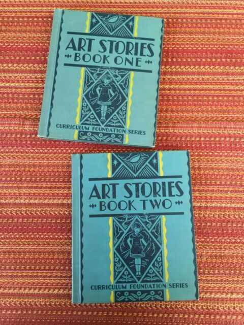 Art Stories, Book One & Book Two-EXCELLENT condition, children's illustrated