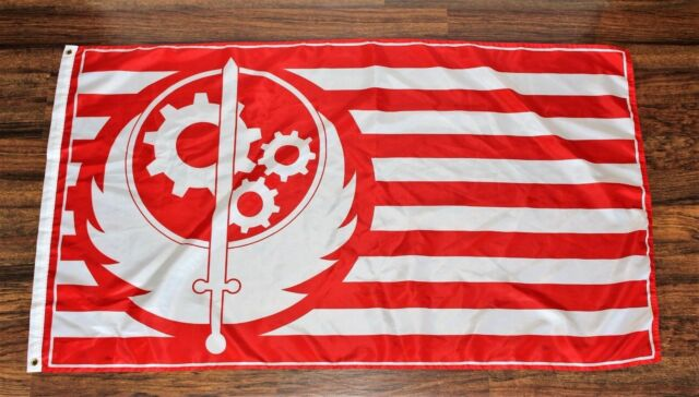 California Brotherhood Of Steel Red Fallout 4 Flag 3x5 Feet For Sale Online Ebay