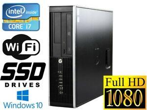 Hp Compaq Elite 8300 Sff I7 3770 3 40ghz 16gb Ram 240gb Ssd 2tb Win10 Pro Wifi Ebay