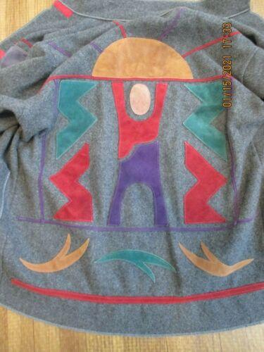 Osgood Smuk Art to Wear Wool Suede Coat XL