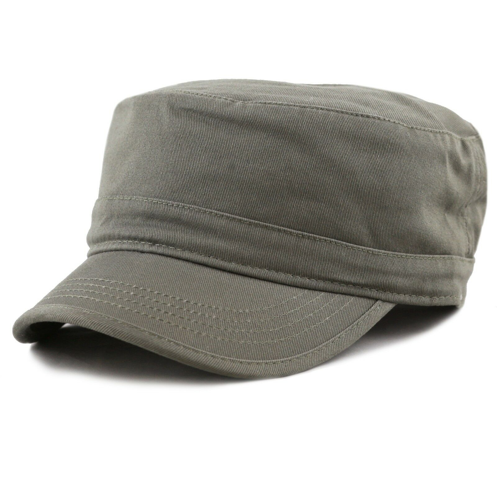 d5667605 Cadet Army Washed Cotton Basic Cap Military Style Hat 60012 | eBay