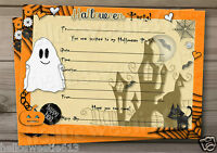 1-10 PERSONALISED I LOVE HALLOWEEN PARTY INVITATIONS AND ENVELOPES