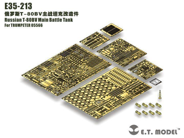 ET Model 1 35  E35213 Russian T-80BV MBT Detail Up Set for Trumpeter 05566