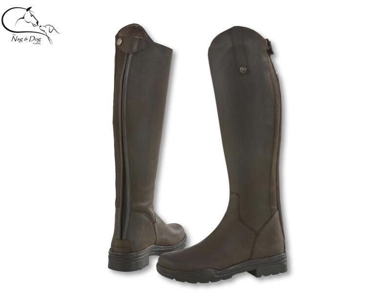 Busse Norwich país larga de cuero botas de montar Negro Marrón todos los tamaños Ancho