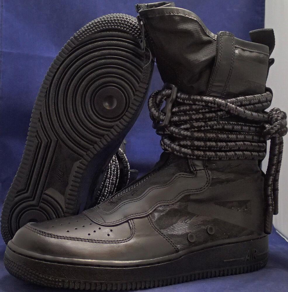 Nike Sf Air Obliger 1 Hi Sz Noir Gris Foncé AF1 Sz Hi 8.5 (AA1128-002) 93fc9c