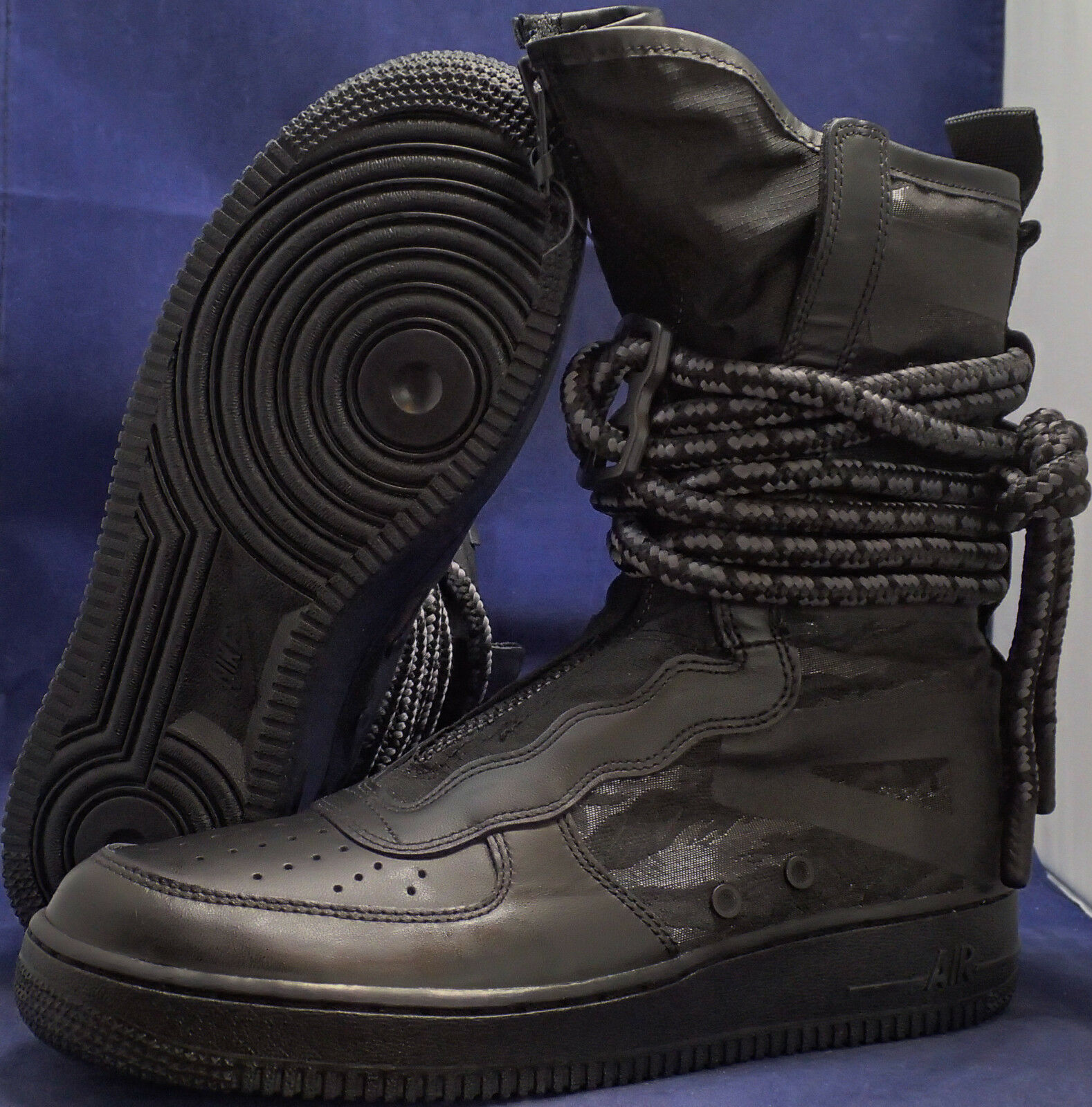 Nike SF Air Force 1 Hi Black Dark Grey AF1 SZ 12 ( AA1128-002 )