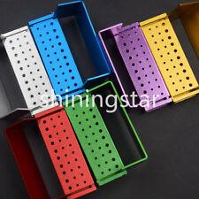 3 Pcs Aluminium Dental Bur Burs Holder Block Disinfection Box Autoclave 30 Holes