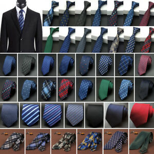 Men-039-s-Tie-Narrow-Business-Necktie-Wedding-Skinny-Slim-Jacquard-Woven-Fashion-Tie