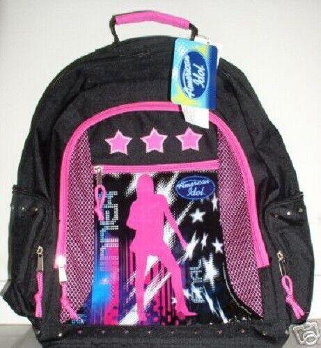 AMERICAN IDOL BACK PACK Superstar Pop Star Girls Book Bag School Luggage TV NEW