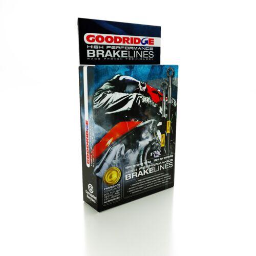 GOODRIDGE BRAIDED RACE FRONT BRAKE HOSES fit SUZUKI GSX1300R HAYABUSA 99-06