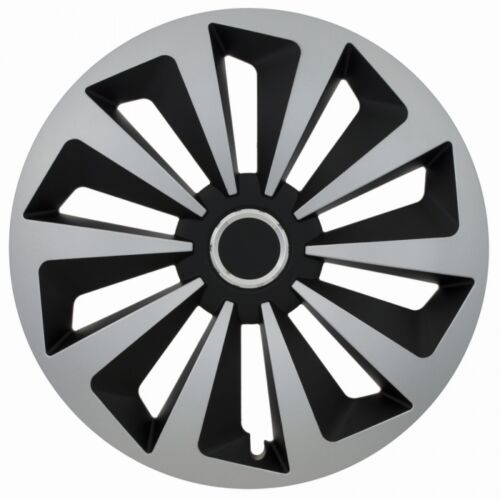 "OPEL 4 x Radkappen FOX RING 14/"" Zoll Silver /& Black Radzierblenden VW,AUDI,BMW"