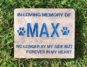 Cat Engraved Pet Memorial Stone Angel Dog Garden Stone Horse Personalized