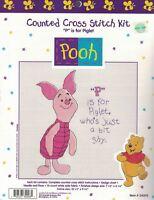 winnie pooh counted cross stitch kit p piglet new 34008 discontinued disney Craft Supplies
