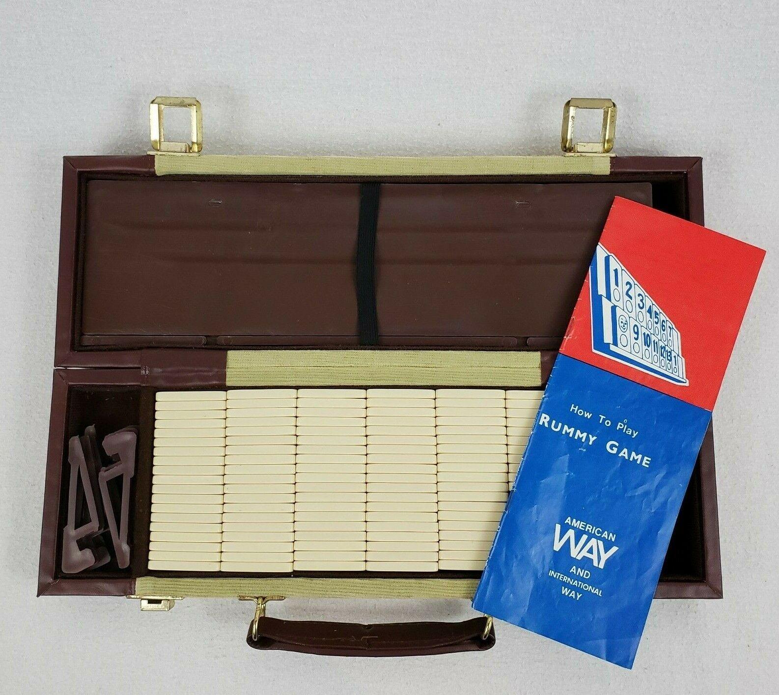 Very Rare Vintage Rummy  gioco Portable Travel Case Stes Instructions tutti Tiles  a prezzi accessibili