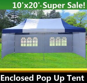 Image Is Loading 10 039 X20 Enclosed Pop Up Canopy