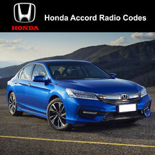 Honda Accord Radio Code Stereo Codes Fast Unlock Service uk