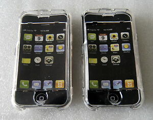 Pack-of-2-Transparent-Crystal-Cases-with-Screen-Protector-for-Apple-iPhone-2G
