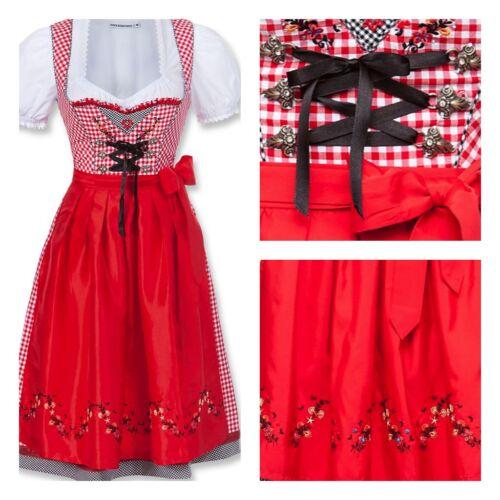Dirndl Midi Jasmin Rot Weiß Kariert Karo Kleid Stockerpoint Trachtenkleid Gr 34