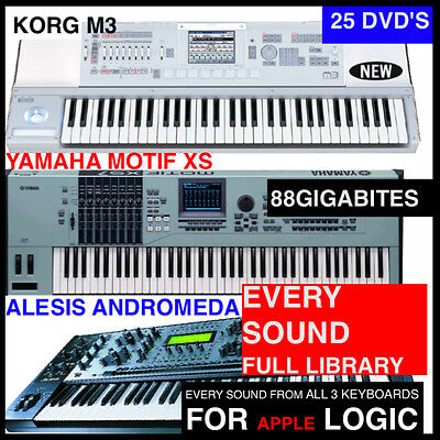 The BEST APPLE LOGIC EXS EXS-24 KEYBOARD SAMPLES KORG M3,MOTIF XS,AND  ANDROMEDA | eBay