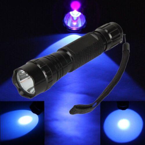 UV WF-501B LED 395~405NM Ultra Violet Flashlight Torch 18650 Light Lamp VD6