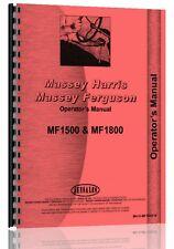 Massey Ferguson 1500 1800 Tractor Operators Manual Mh O Mf150018