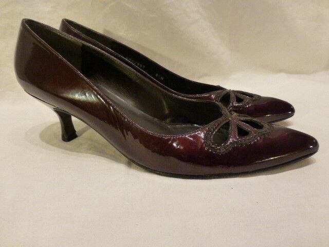 promozioni di squadra Weitzman Weitzman Weitzman Burgundy Patent Leather Classic Pump Kitten High Heel donna scarpe 8.5N  vendita di fama mondiale online