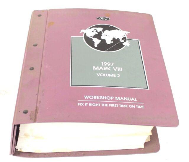Ford 1997 Mark Viii Workshop Manual