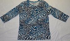 WOMENS knit BLOUSE SHIRT top = FRESH = LARGE = WH96
