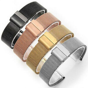 12-22mm-Straps-Thin-Mesh-Stainless-Steel-Watch-Band-Metal-Clasp-Bracelet-Strap