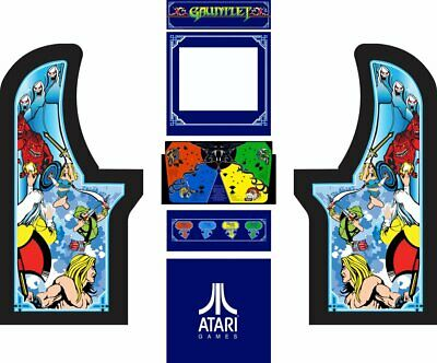 Arcade1up Arcade Cabinet Graphic Decal Complete Kits SuperMan