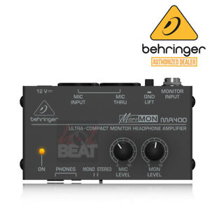 behringer micromon ma400 compact personal monitor mixer headphone amplifier 689828010615 ebay. Black Bedroom Furniture Sets. Home Design Ideas
