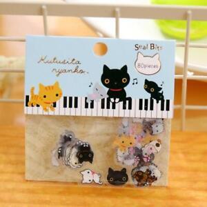 80pcs-lot-Cute-Kawaii-Clear-Animal-PVC-Stickers-Lovely-Sticker-Pack-Rilakku-N8E6