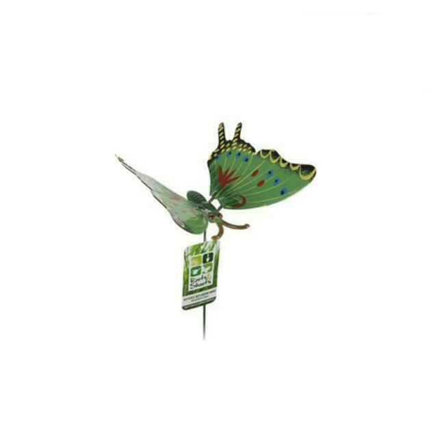 set of 4 butterfly with flapping wings garden animal stick ornament novelty A
