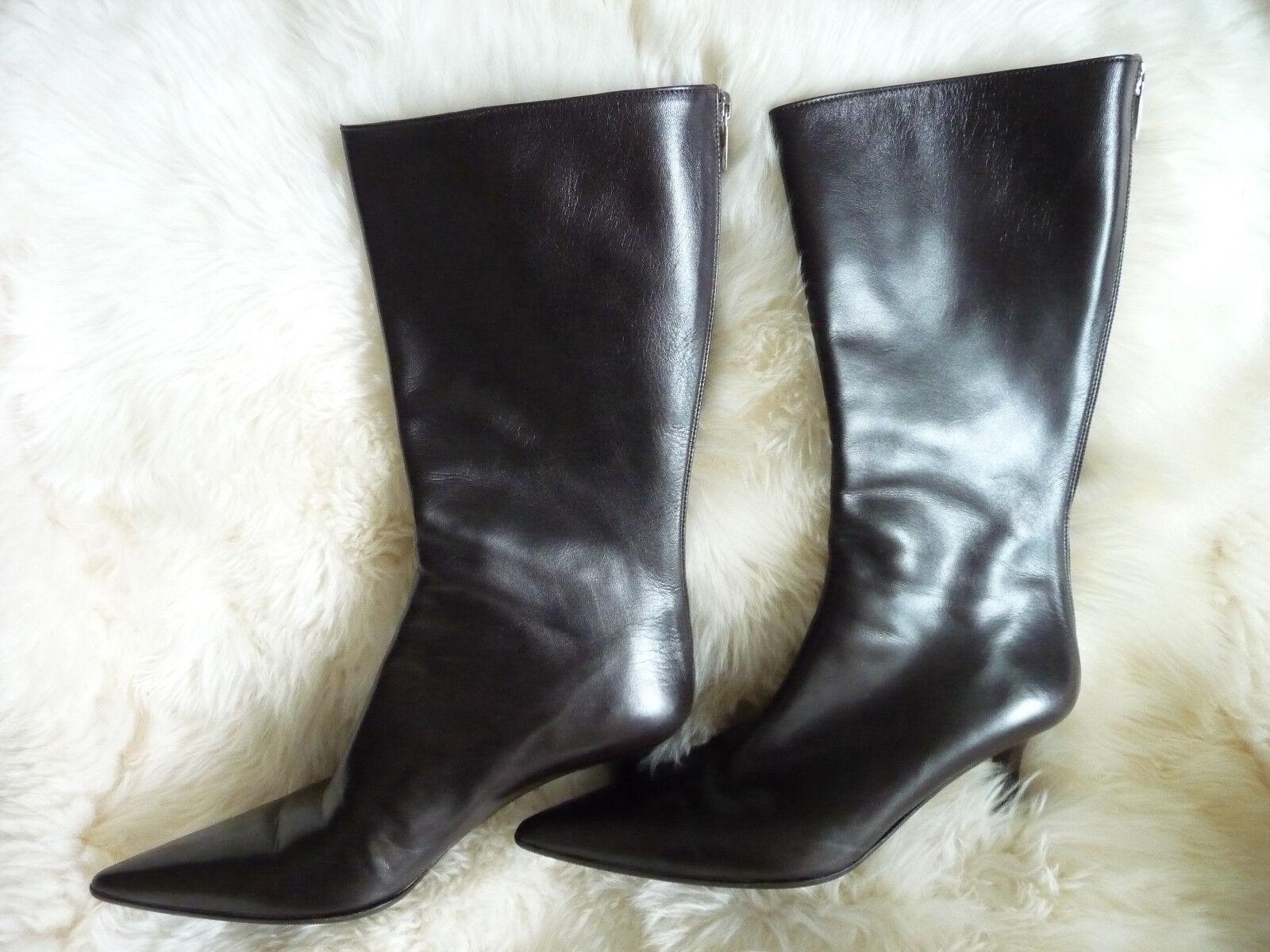 I. Cavallini All Leather Midrise Boots